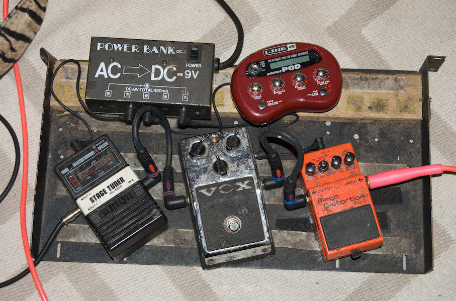 Old Guitar Pedal Board
