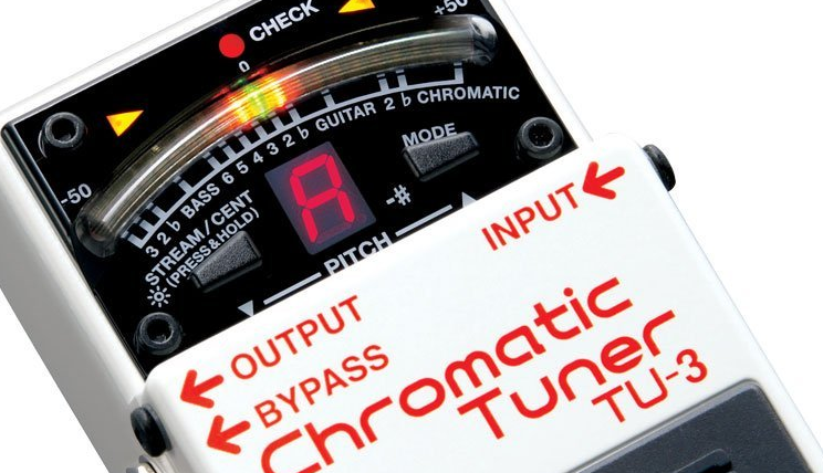 Boss TU-3 Chromatic Tuner Front Panel Up Close