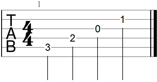 C Major Arpeggiated Chord
