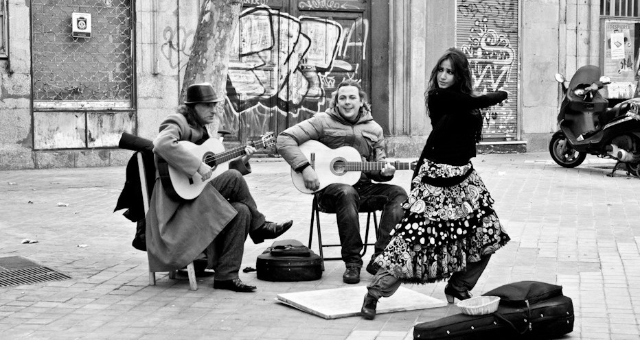 Flamenco Guitar Street Performance