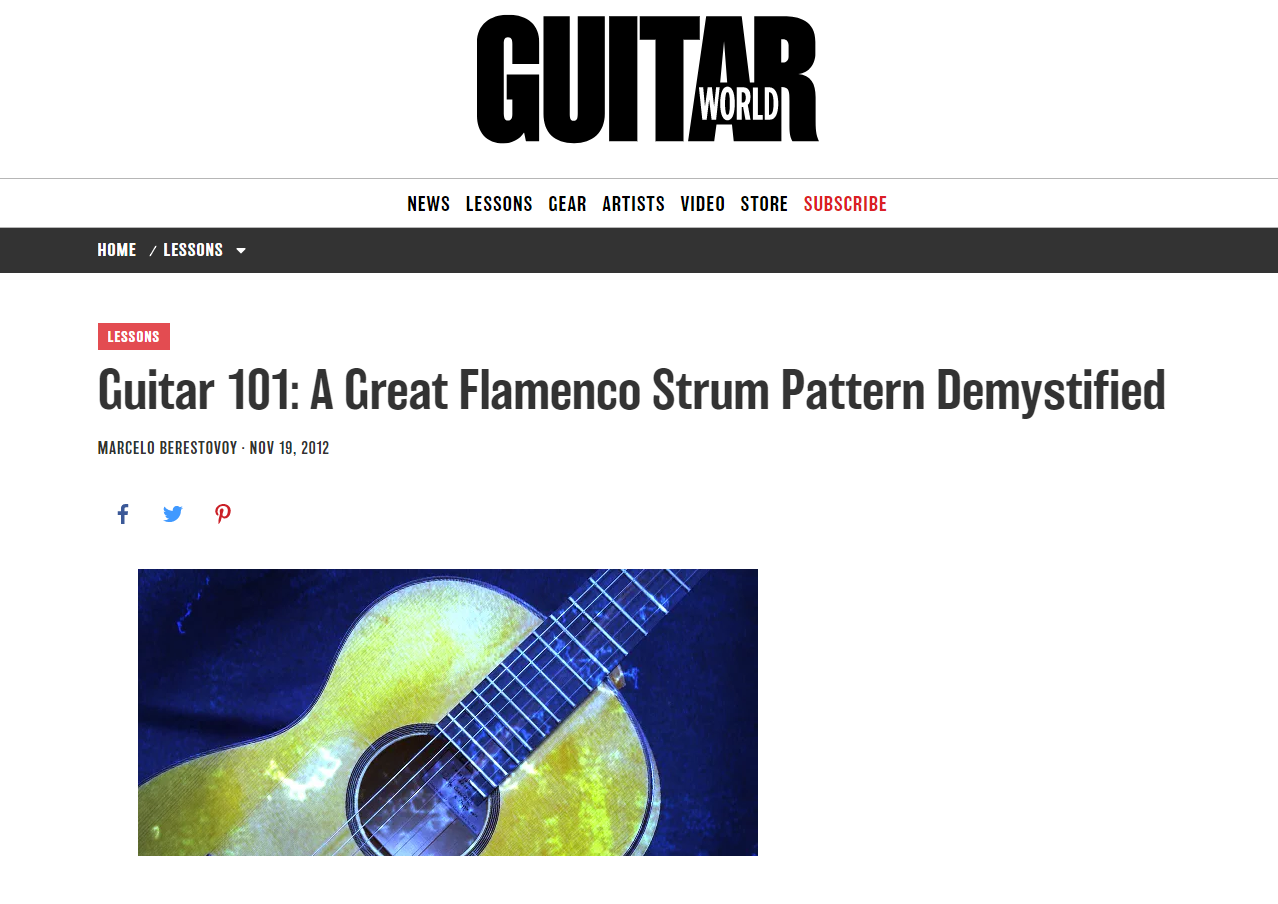 Guitar World Flamenco Guitar Lesson Screenshot