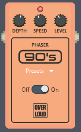 Phaser Pedal Settings in Guitar Pro 7