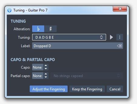 Guitar Pro 7 Drop D Tuning