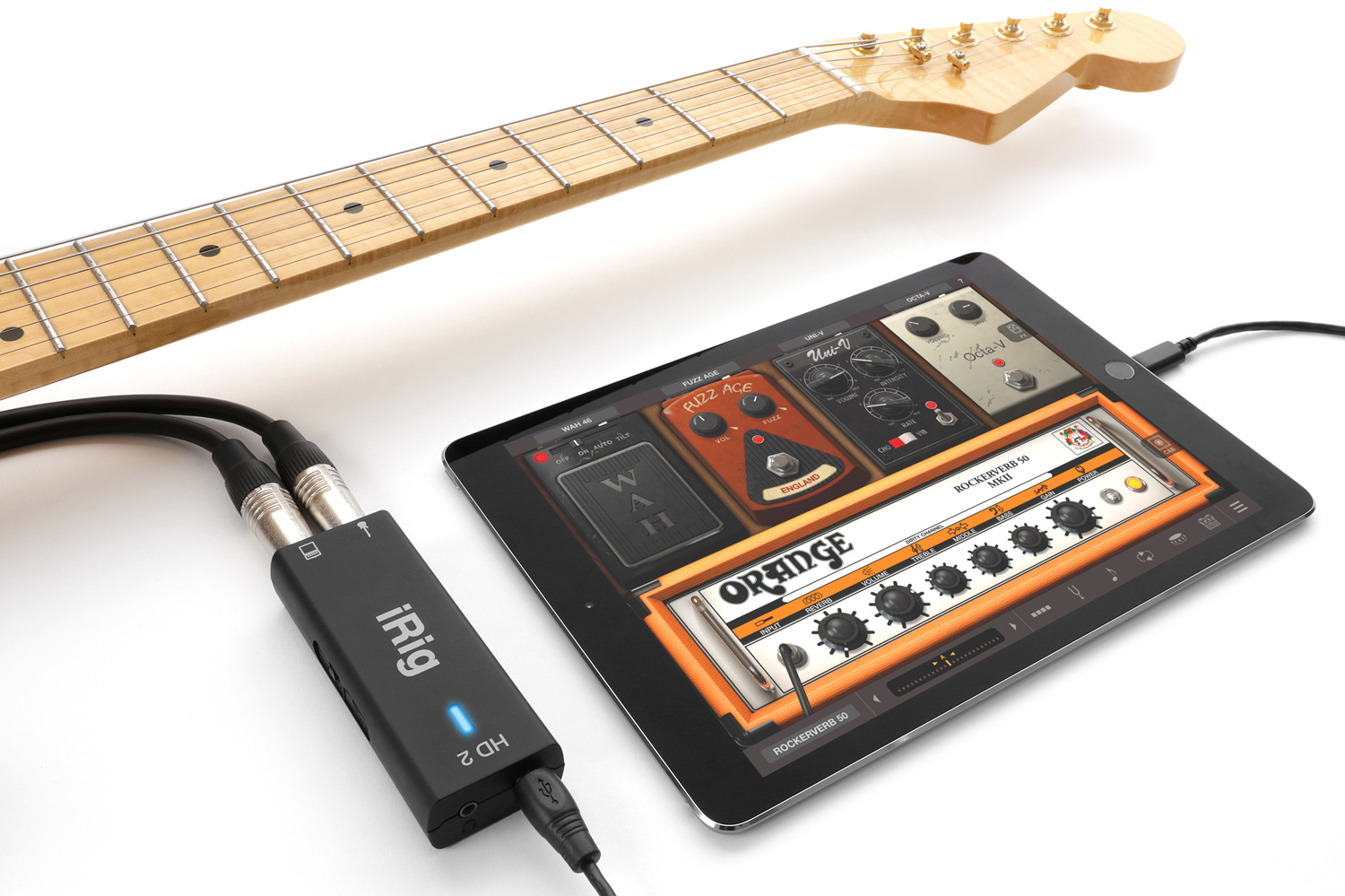 Fender Strat Guitar Jack Wiring Diagram Bought And Unboxed Irig Hd 2 Review Setup Guide Chalk Connection With Ipad