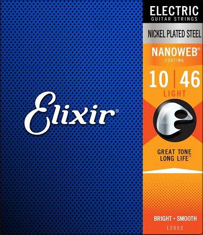 Elixir Electric Guitar Strings with NANOWEB Coating