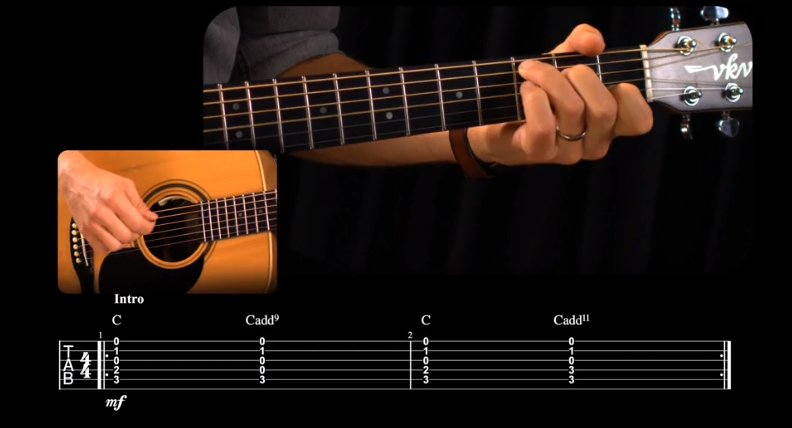 Acoustic Guitar Level I Course Screenshot in Guitar Tricks