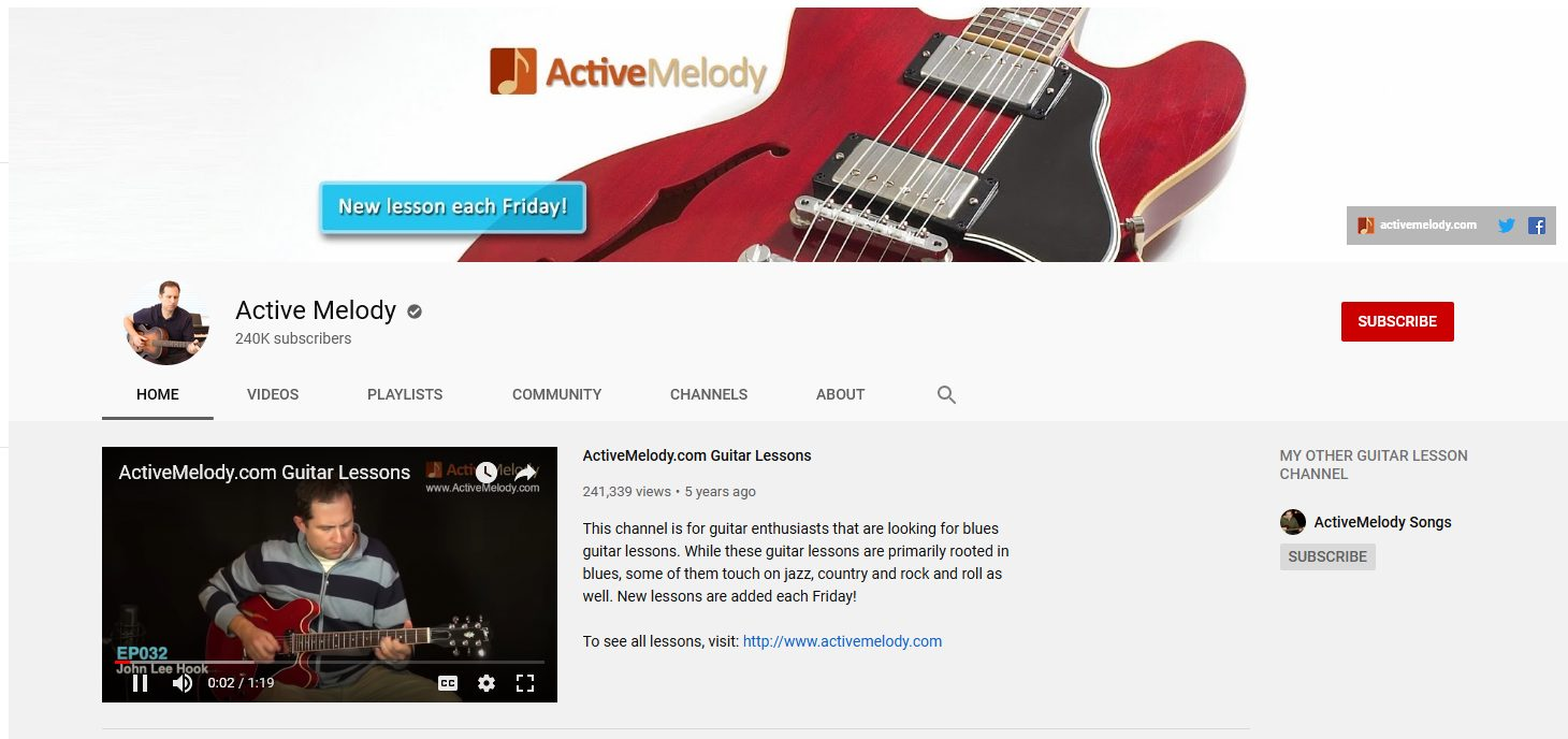 Active Melody YouTube Channel