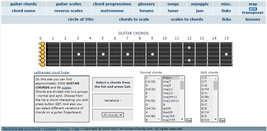 All-Guitar-Chords Home Page