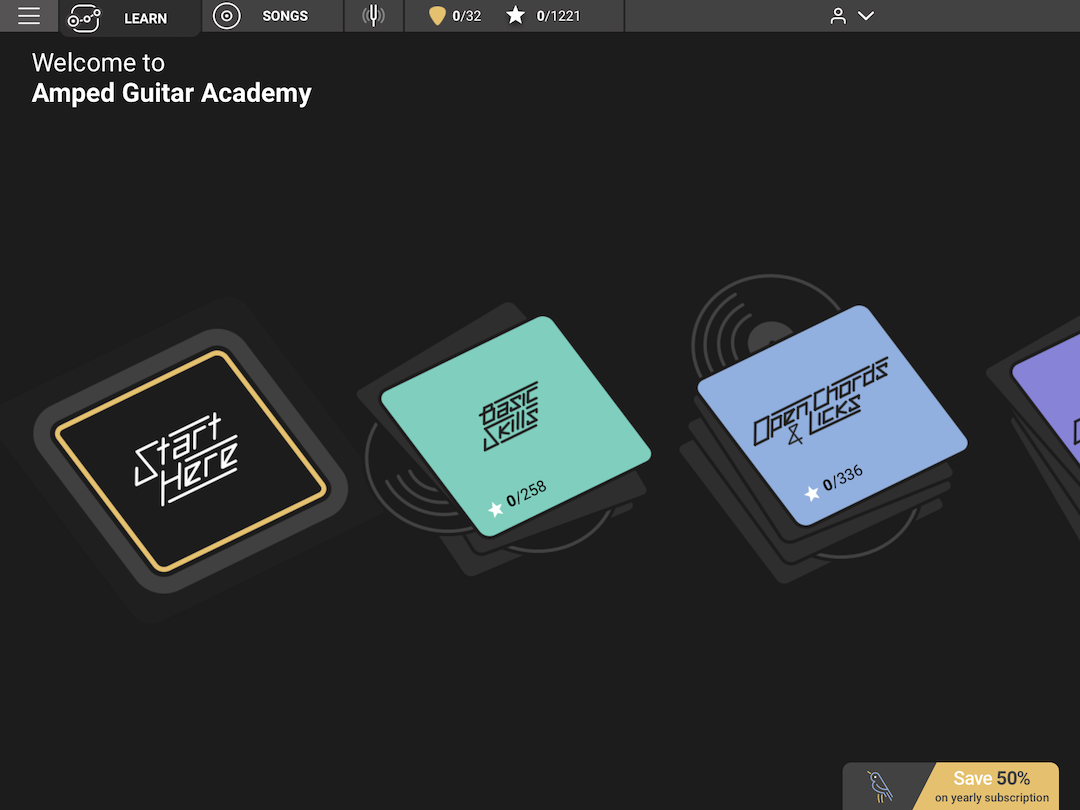 Amped Guitar Learning App