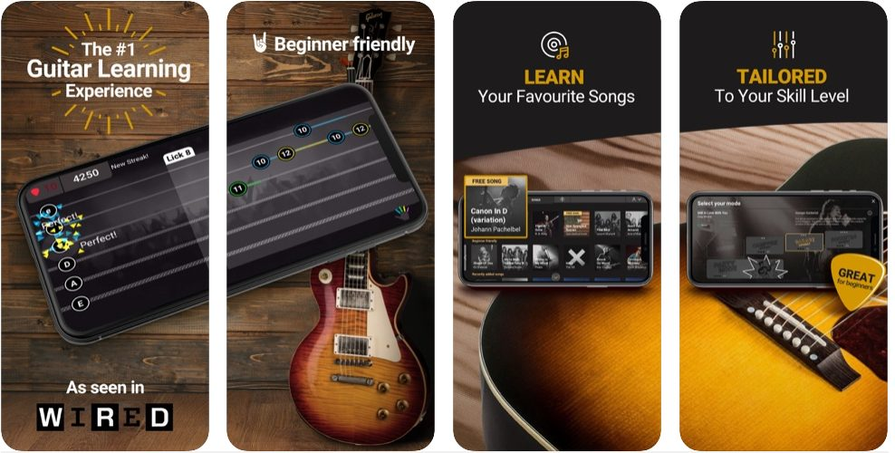 Amped Guitar Learning Mobile App