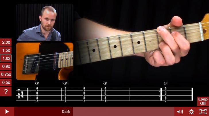 Anders Mouridsen in Guitar Tricks Rock Course