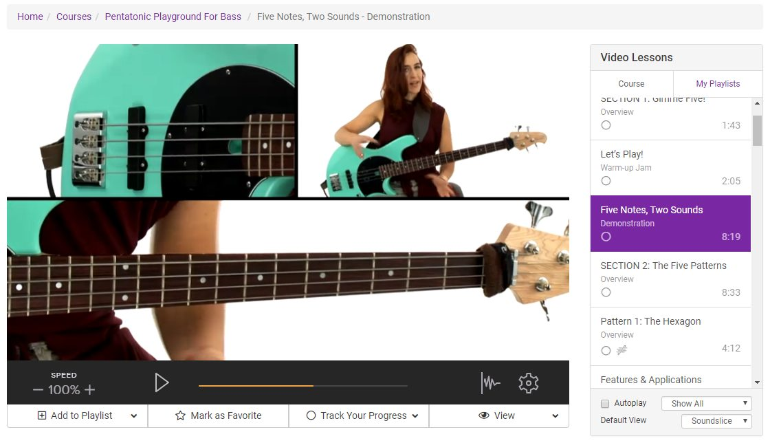 Arianne Cap's Bass Lessons on TrueFire