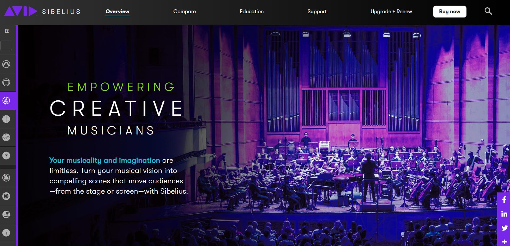 Avid Sibelius Home Page