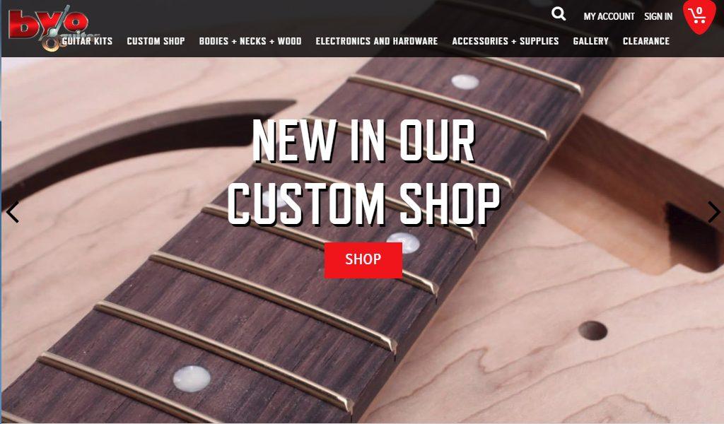 BYO Guitar Shop Home Page