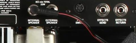 Back Panel of the Fender Super-Sonic 22 Combo Amp