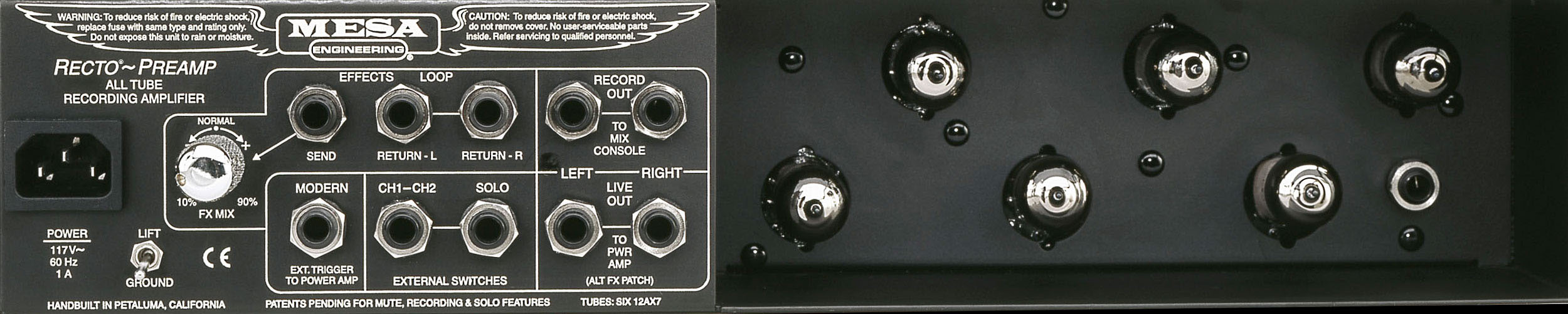 Back of the Mesa Boogie Recording Preamp