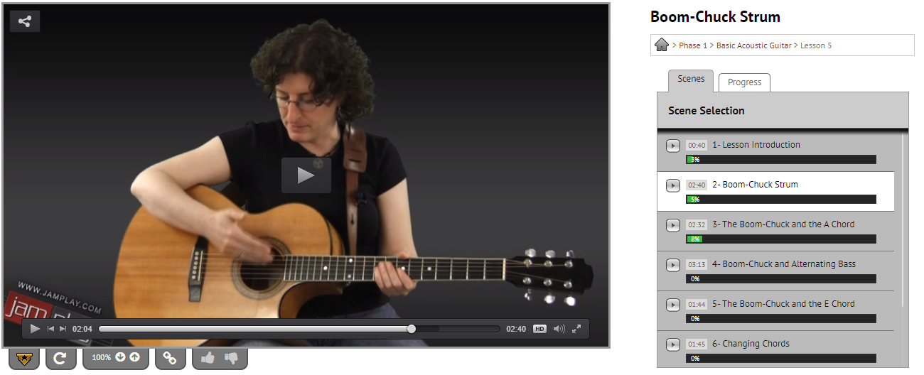 Basic Acoustic Guitar in JamPlay with Eve Goldberg