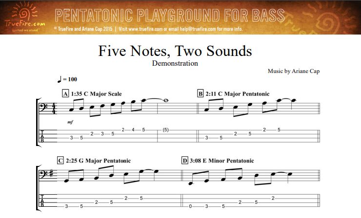 Bass Lesson Tabs and Sheet Music