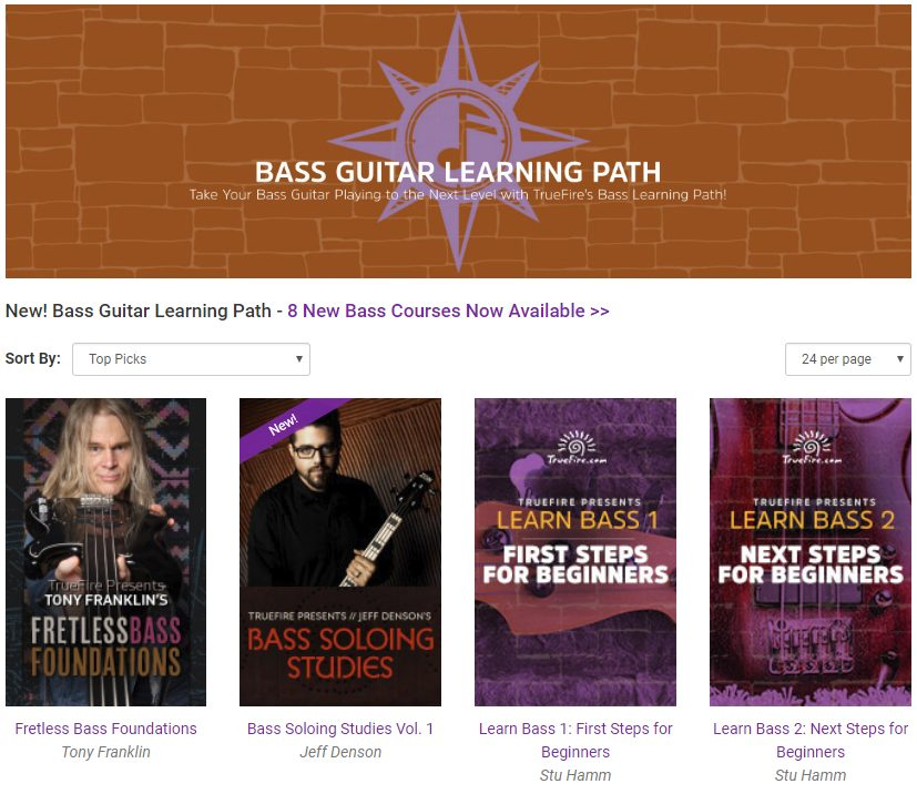 Bass Lessons Available on TrueFire
