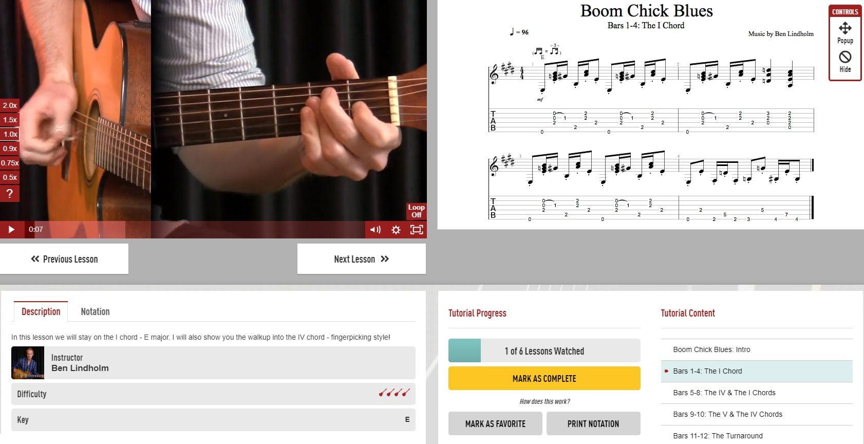 Ben Lindholm Boom Chick Strumming Lesson in Guitar Tricks
