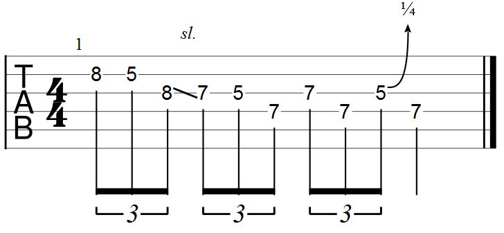 Blues Lick Example Guitar Tab