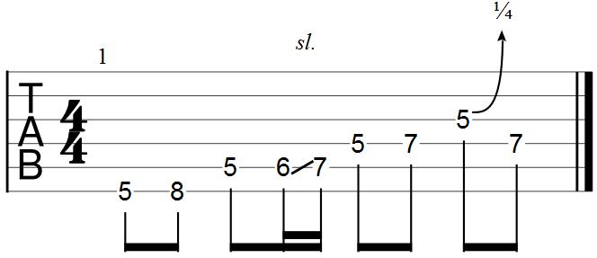 Blues Lick Example Guitar Tab_2