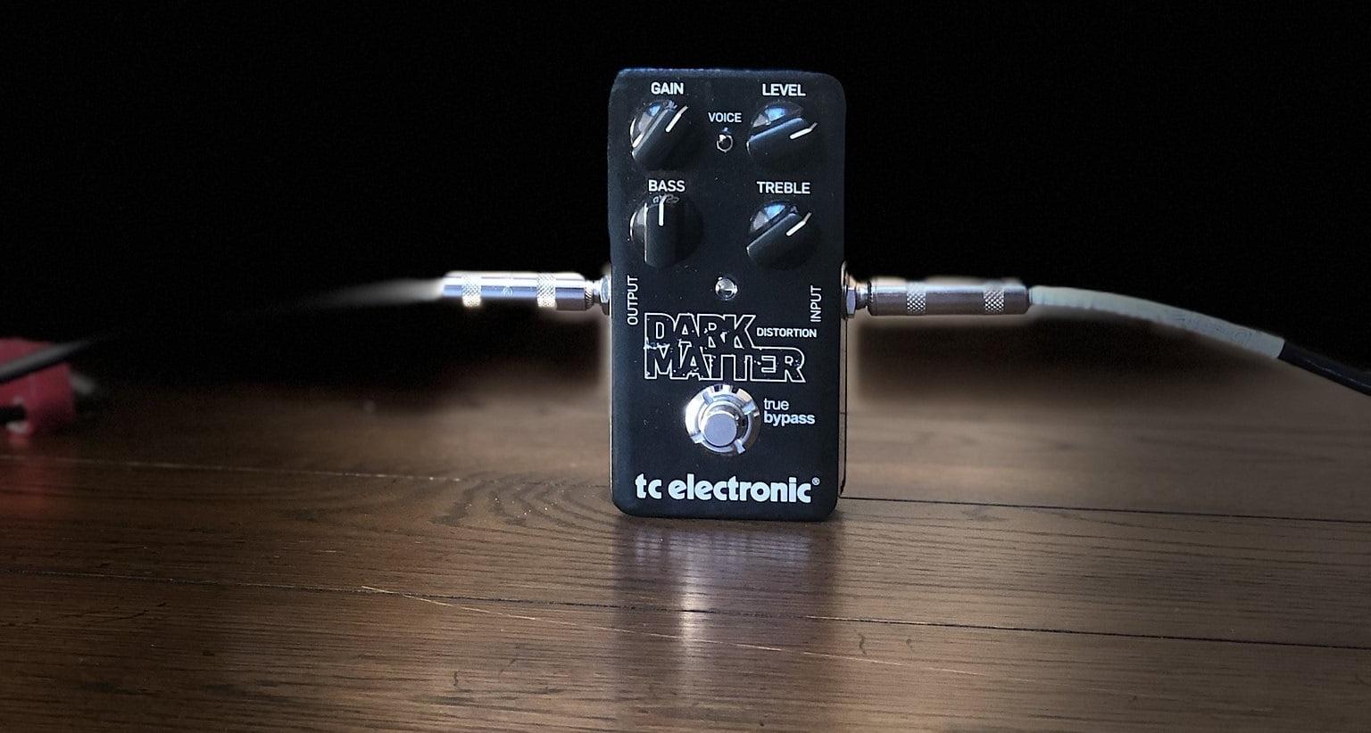 TC Electronic Dark Matter Distortion Pedal (front shot)