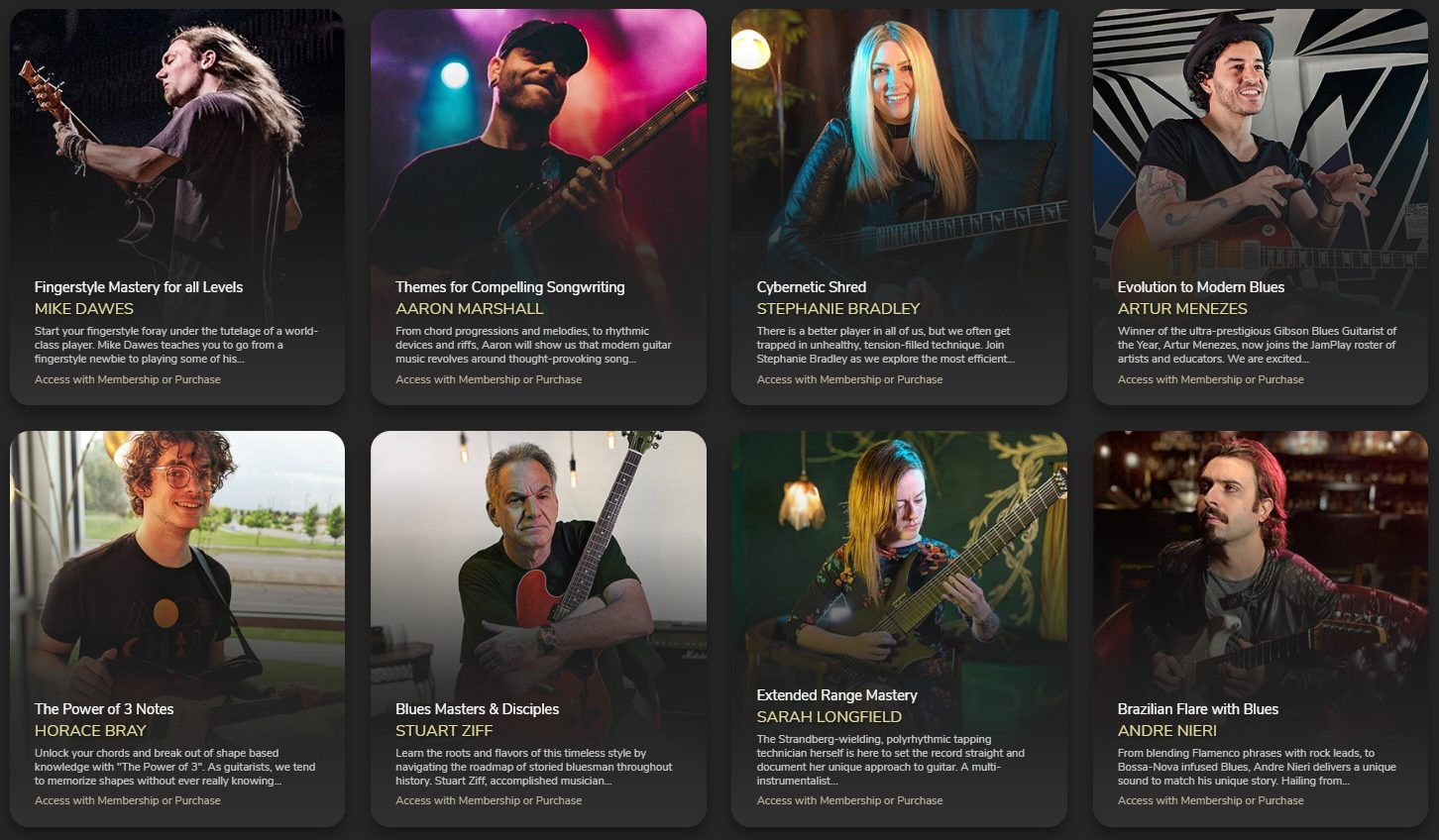 Downloadable Guitar Courses from JamPlay