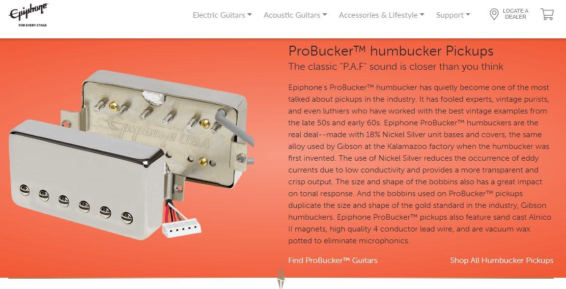 Epiphone ProBucker Pickups