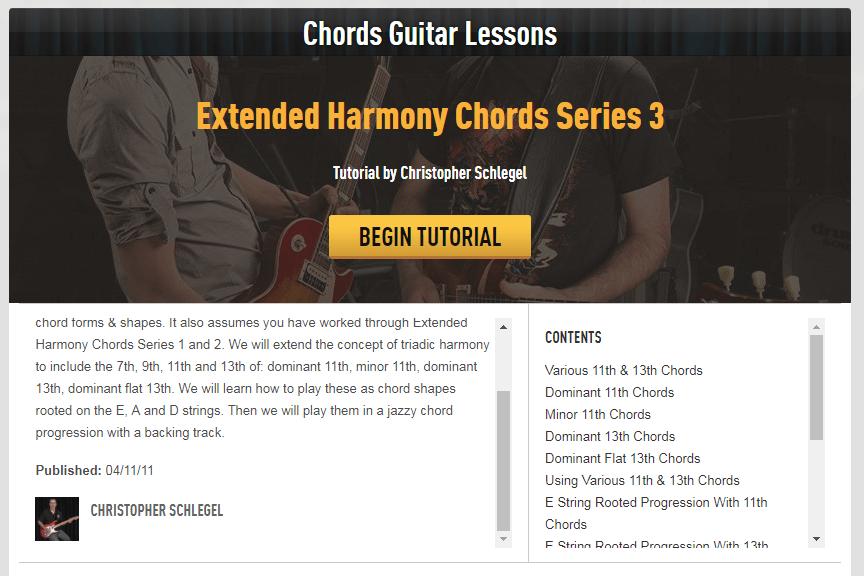 Extended Harmony Jazz Guitar Course - Guitar Tricks