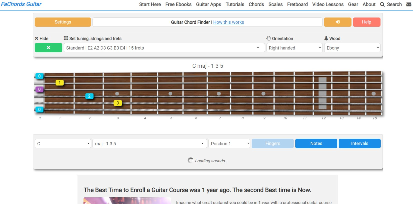 FAChords Interactive Guitar Chord Learning Software