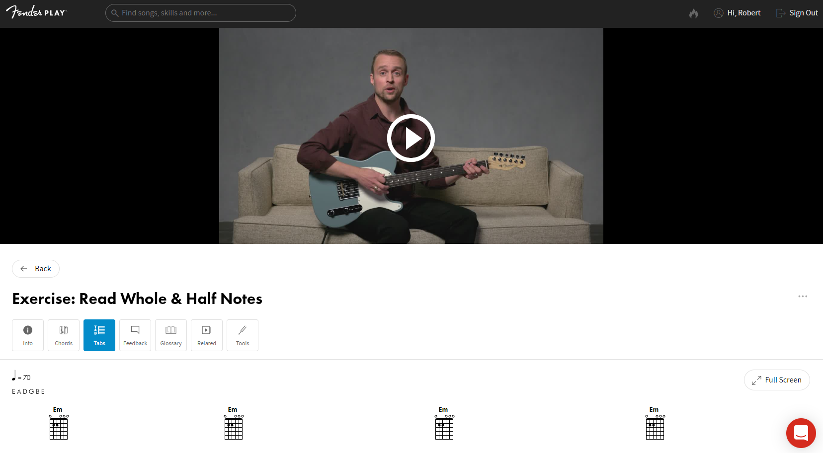 Fender Play Review Video Interface