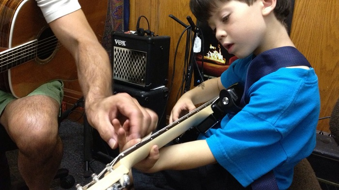 First Guitar Lesson Photo