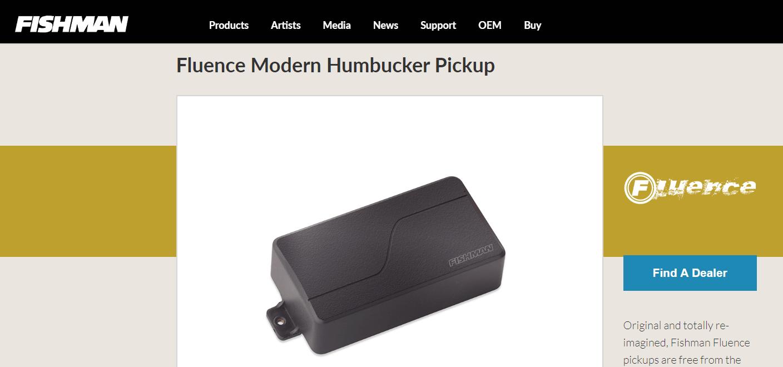 Fishman Fluence Modern Humbucker Product Page (Fishman's Website)