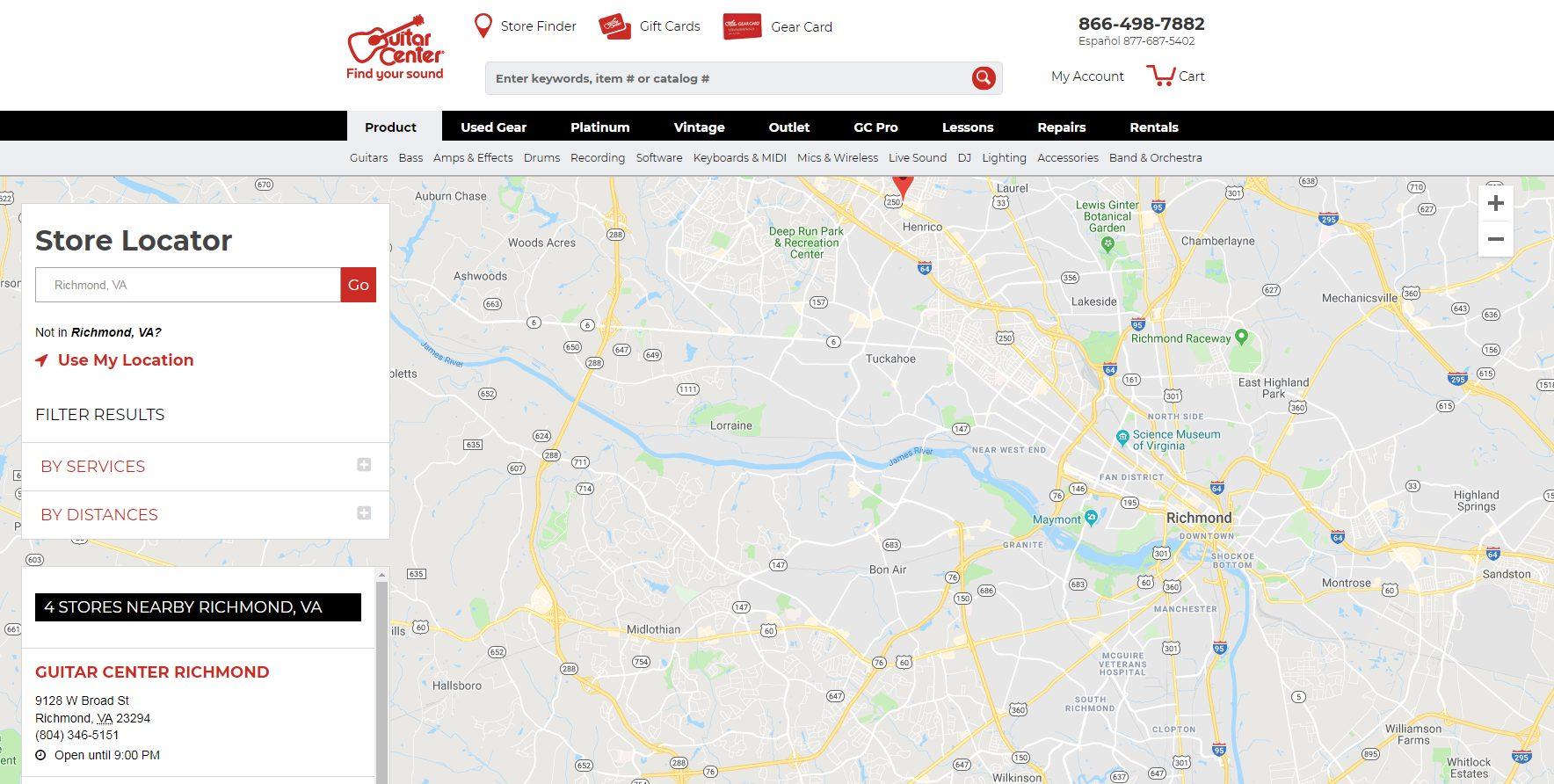 Guitar Center Store Locator