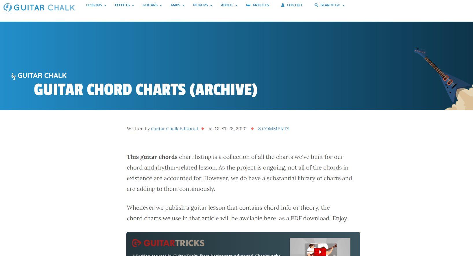 Guitar Chalk Chords Archive