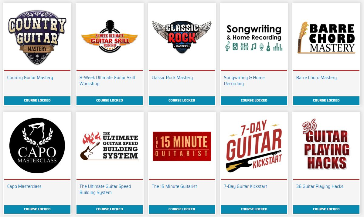 Guitar Courses in the Mastery Method Store