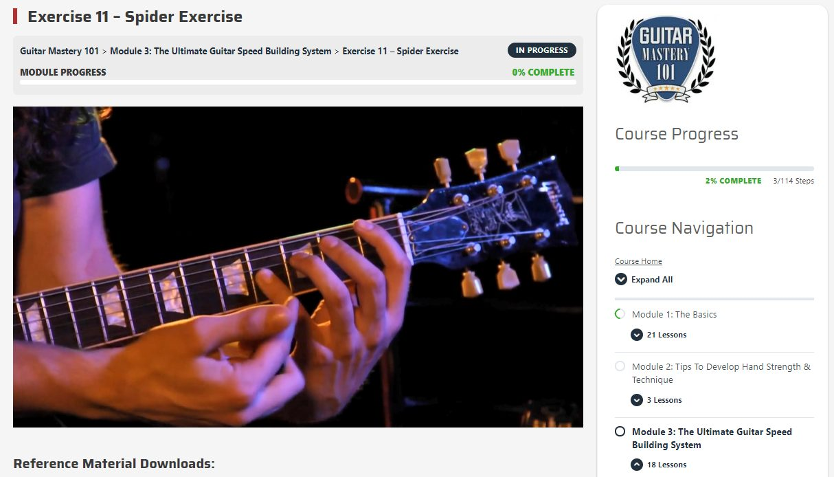 Guitar Mastery Method 101 Spider Exercise