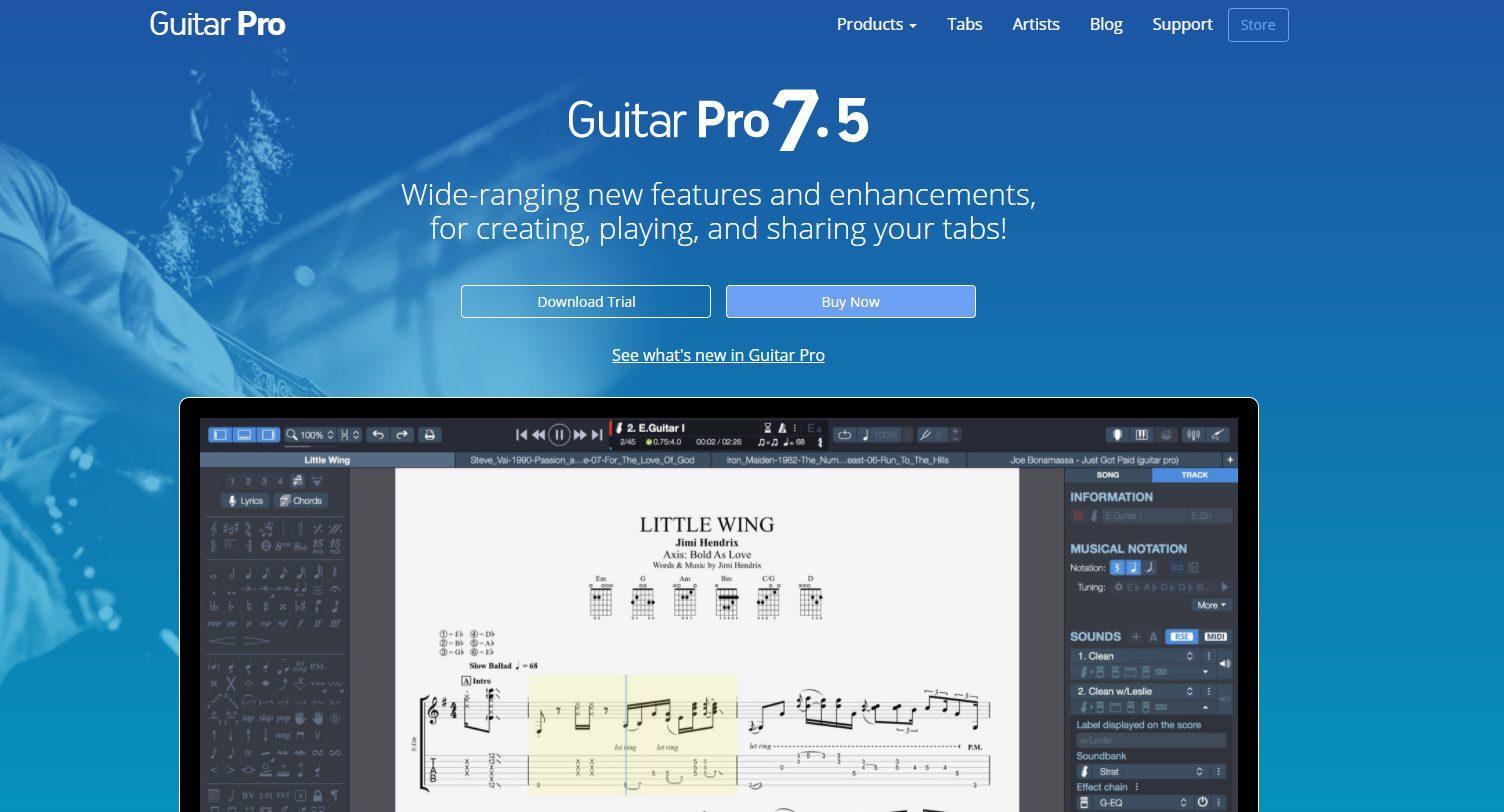 Guitar Pro 7.5 Screen Grab