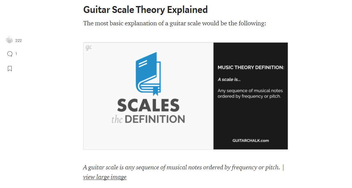 Guitar Scales Article on Medium