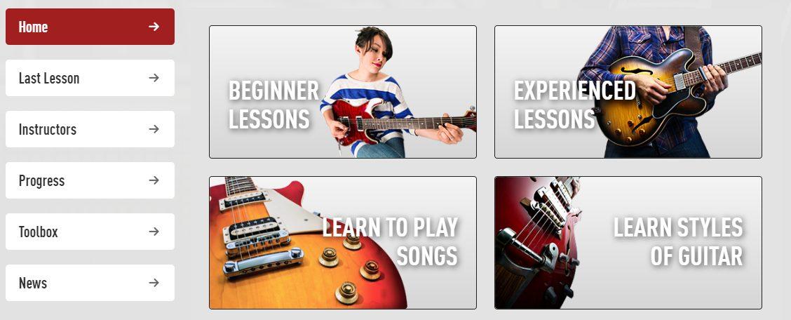Guitar Tricks Core Learning System Screenshot