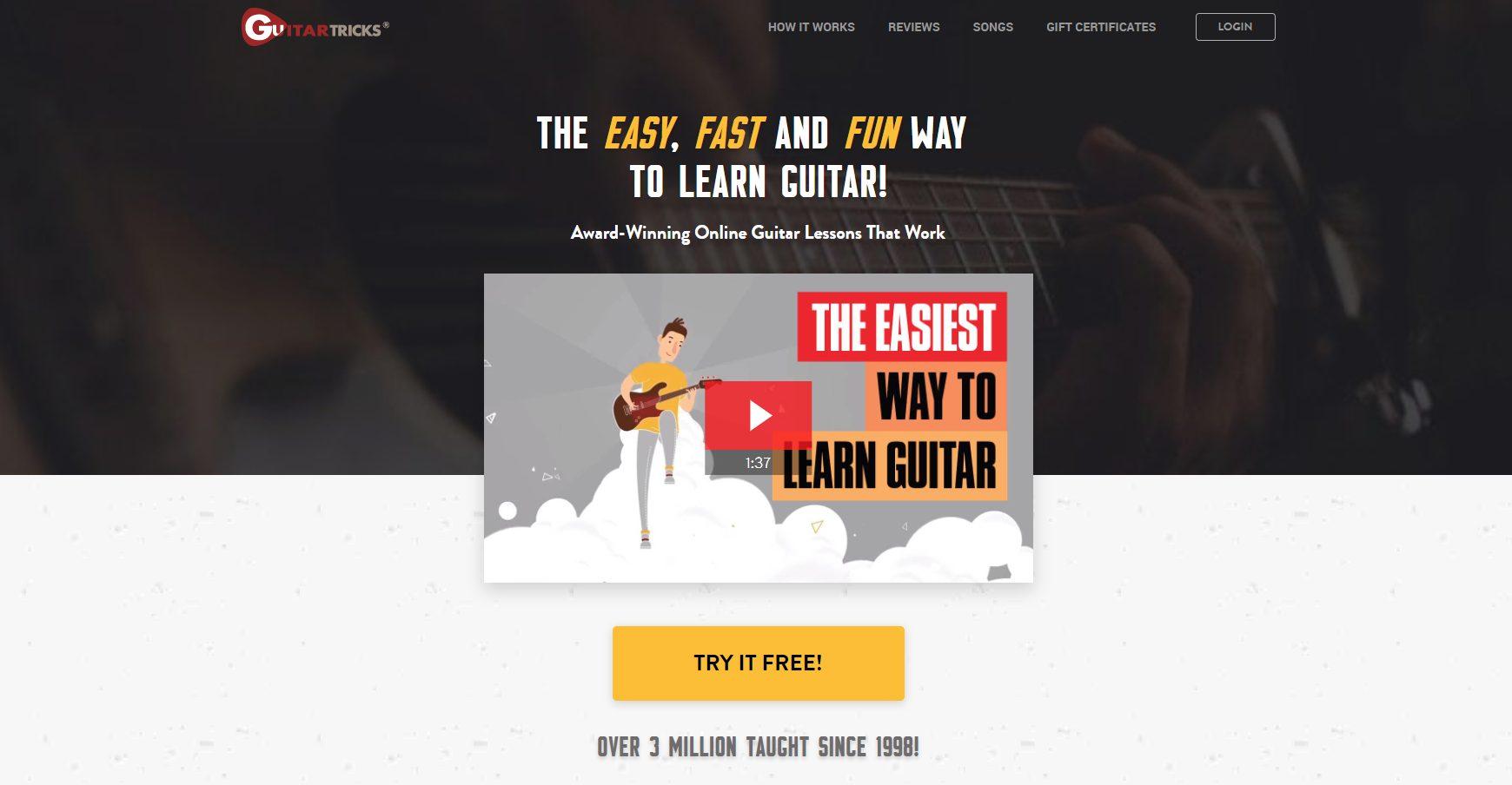 Guitar Tricks Home Page (wide)