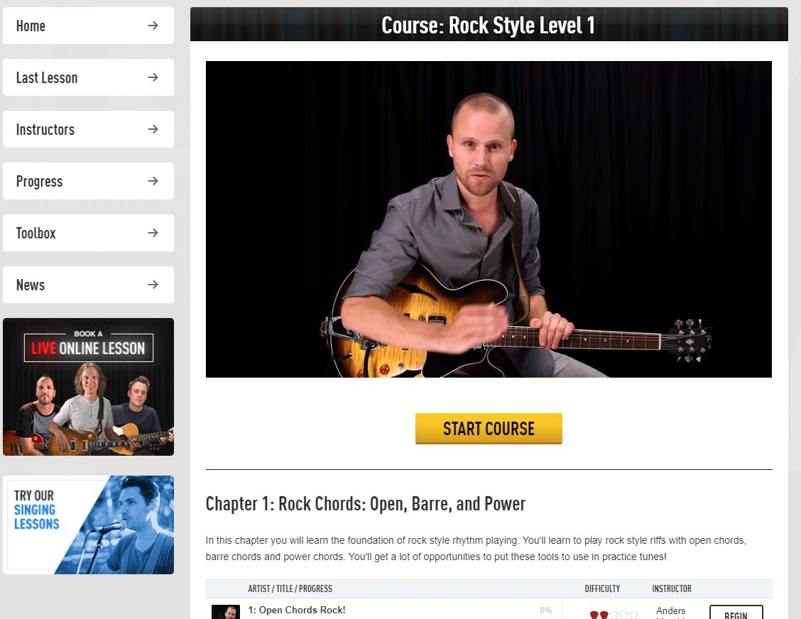 Guitar Tricks Rock Level 1 Course Intro