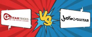 Guitar Tricks vs Justinguitar Banner Graphic