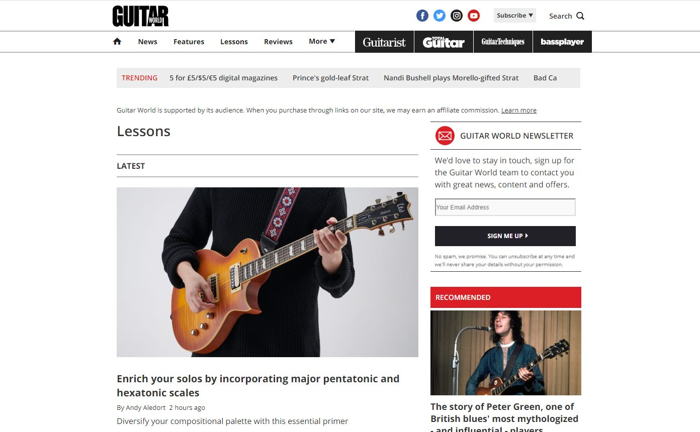 Guitar World Lessons Page