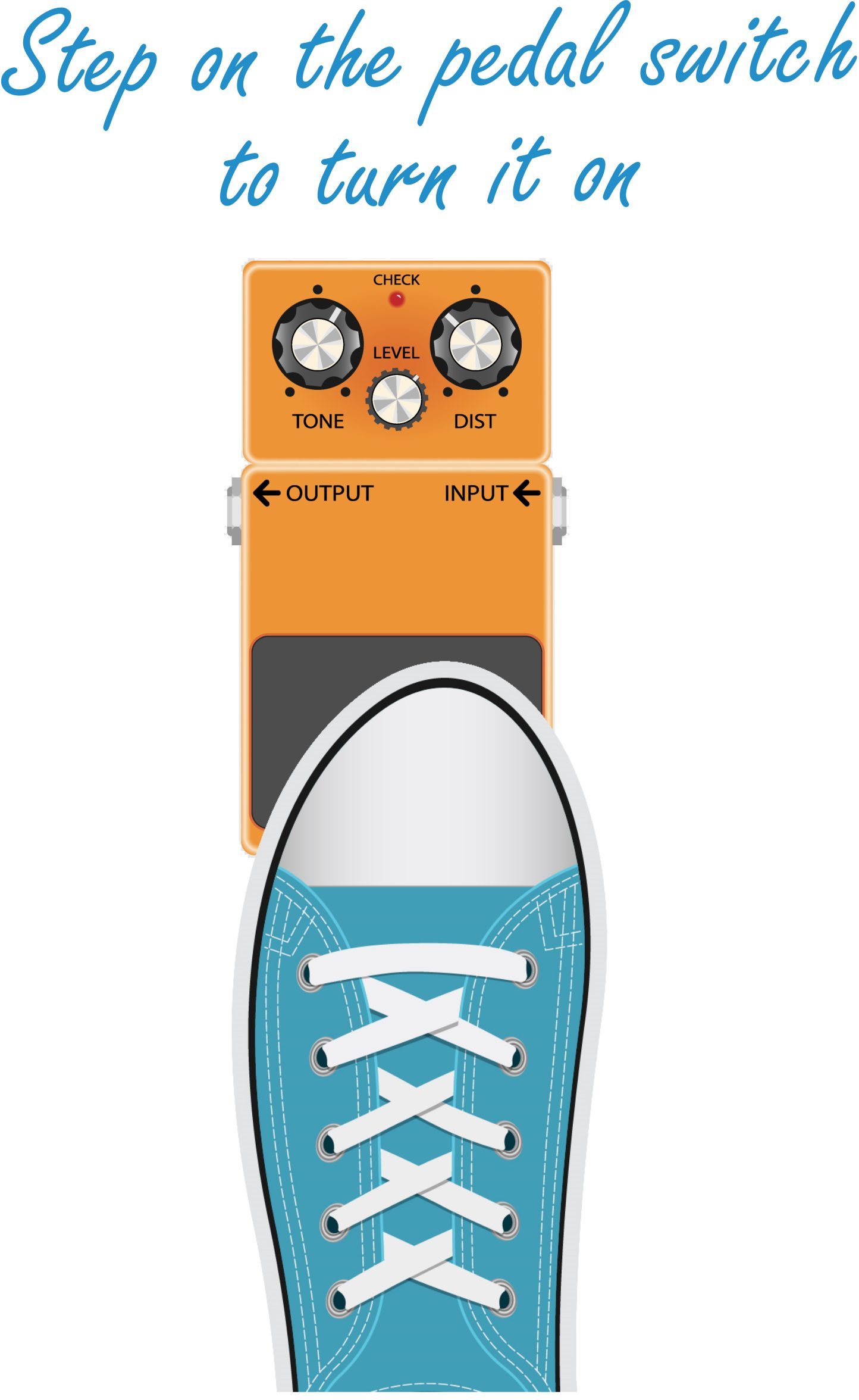 How to Use a Distortion Pedal_Turn it On