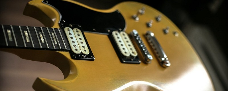 Humbuckers on a Gibson SG Electric Guitar
