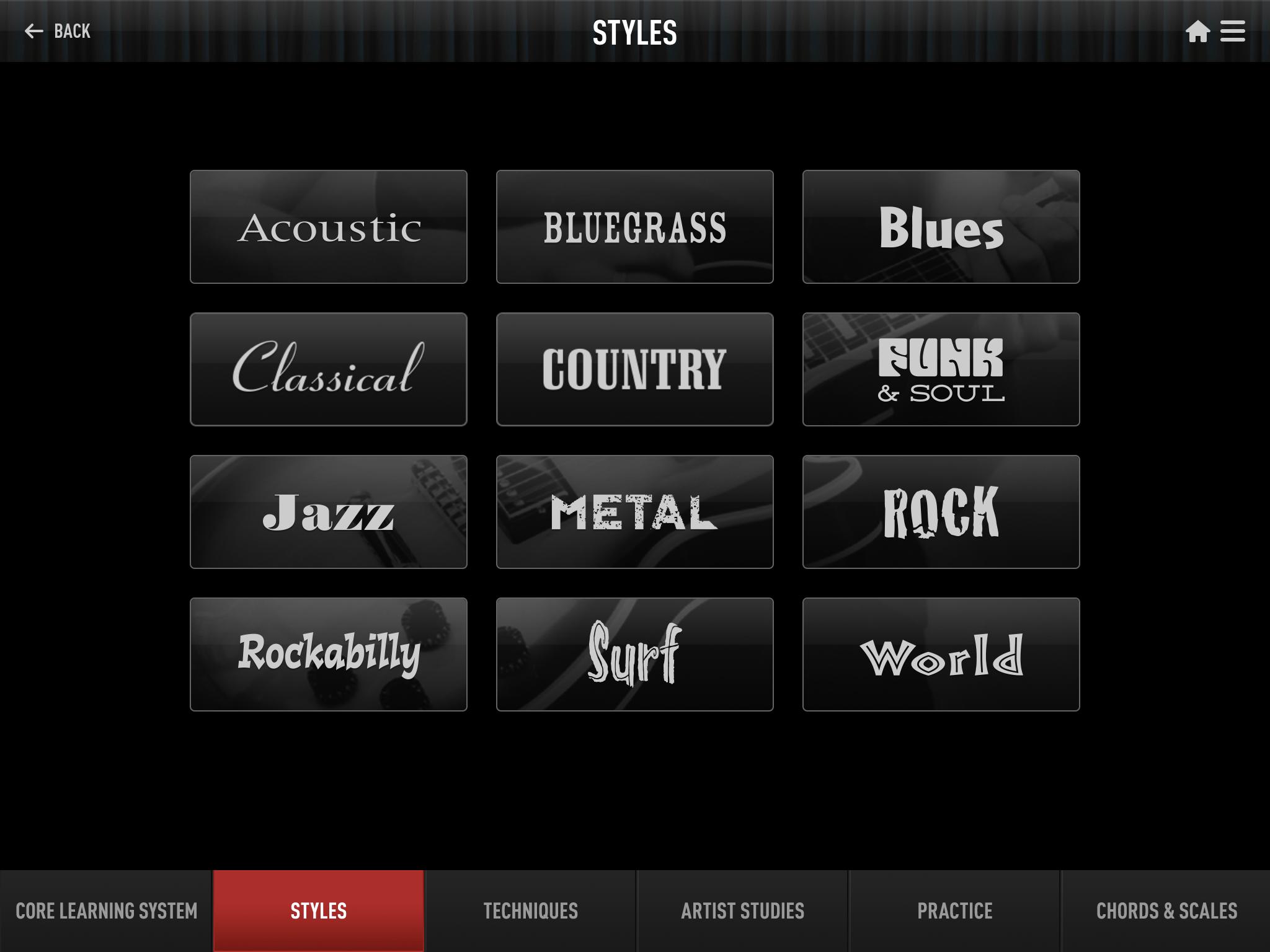 Guitar Tricks iPad App Screenshot