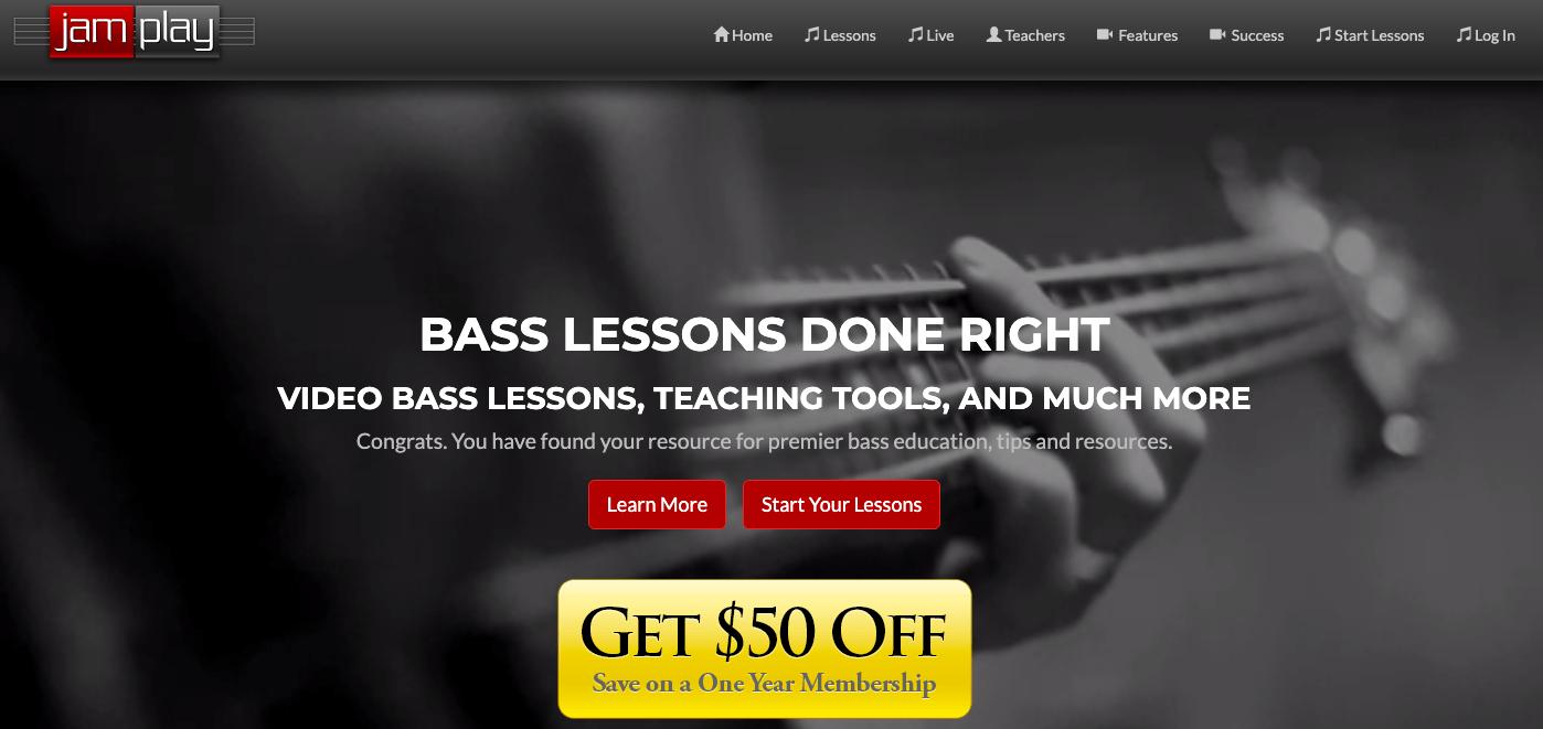 JamPlay Bass Content Screenshot