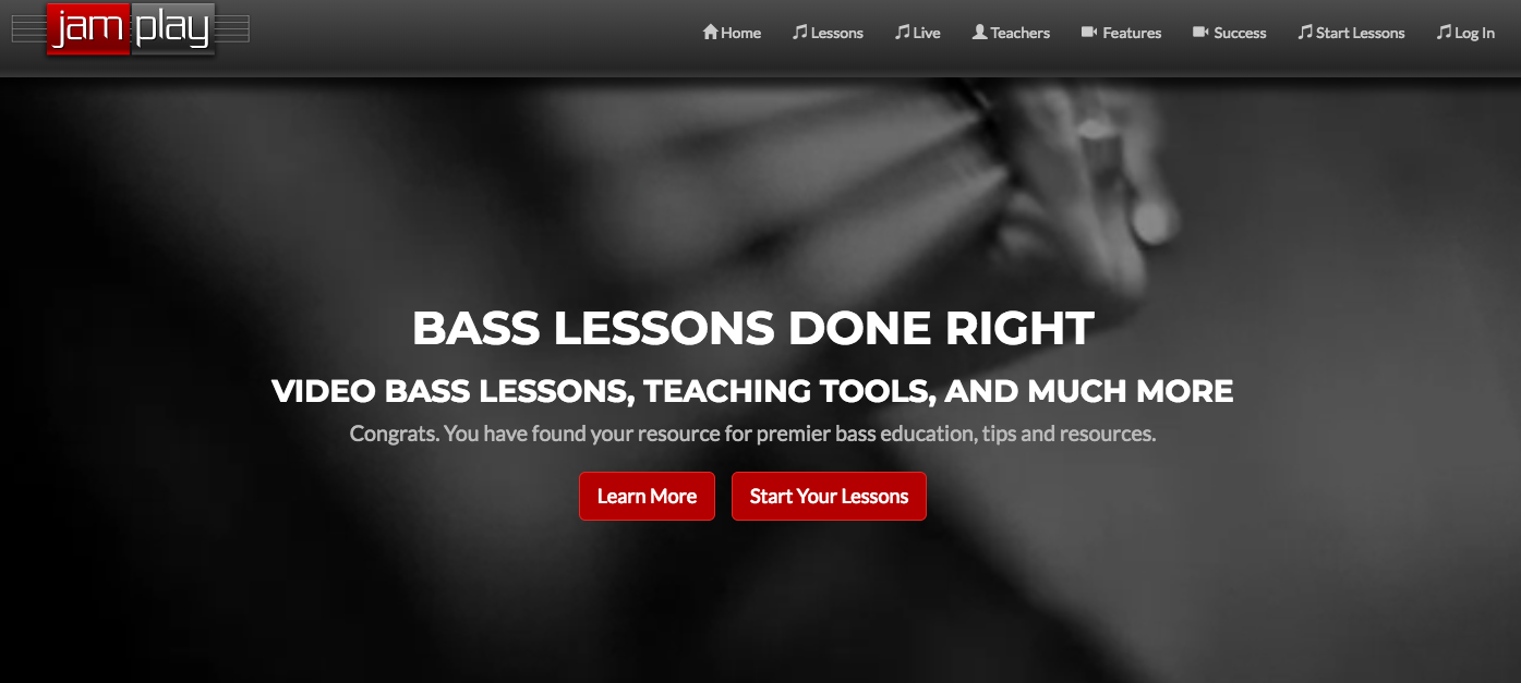 JamPlay Bass Lessons Home Page